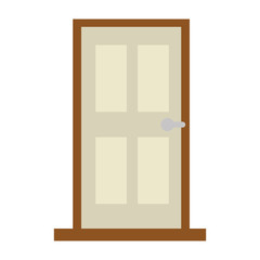 room door isolated icon