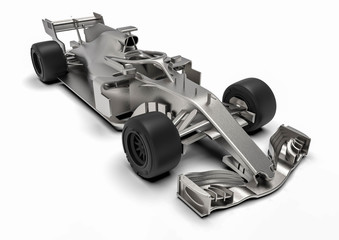 F1 car radiography / 3D render of an F1 car