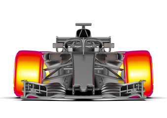 F1 car analysis /3D render of an F1 car