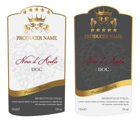 Set of Wine Label