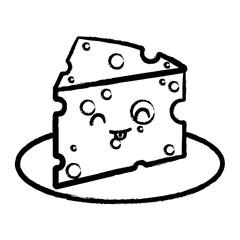 kawaii cheese icon