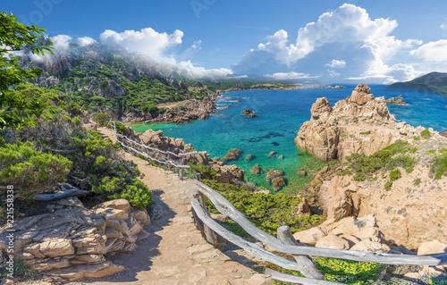 Wall mural Landscape of Costa Paradiso with Spiaggia di Li Cossi, Sardinia