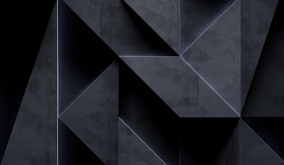 Dark Grungy Abstract Background (3d illustration)