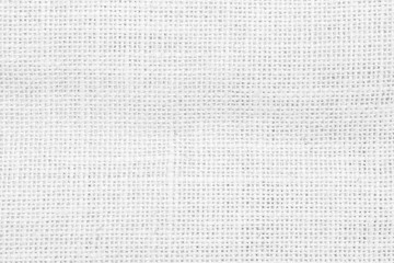 Hessian jute sackcloth woven burlap flax texture background in white color
