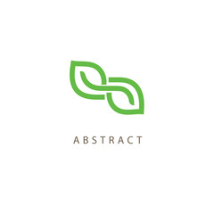 Abstract green leaf logo icon vector design. Landscape design, garden, Plant, nature and ecology vector logo. Ecology Happy life Logotype concept icon. Vector illustration, Graphic Design Editable