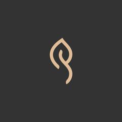 Abstract green leaf logo icon vector design. Landscape design, garden, Plant, nature and ecology vector logo. Ecology Happy life Logotype concept icon. Vector illustration, Graphic Design Editable