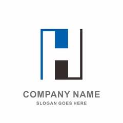 monogram letter h geometric square architecture interior construction business company stock vector logo design template