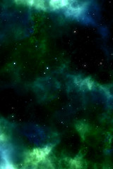 Galaxy stars. Abstract space background. 3d illustration