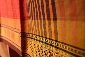Traditional beautiful Indian hand loom silk sari