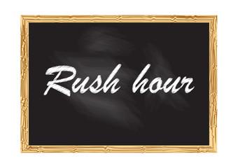 Rush hour blackboard record Vector illustration for design