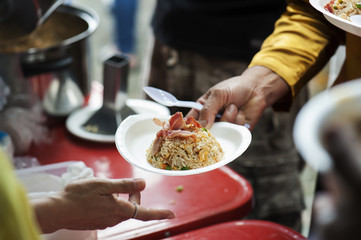Helping the poor in society by donating food : The concept of hunger