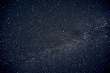 view of the milky way at night