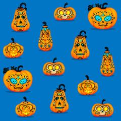 Fototapeta Halloween pumpkins background obraz