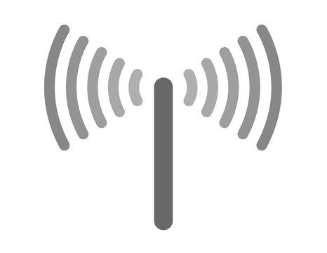 sensor and waves signal icon vector