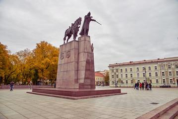 Monument to Grand Duke Gediminas in Vilnius Wall mural