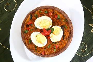 Spicy Boiled Egg Curry, Indian Dish