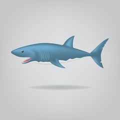 Cartoon Shark. Vector illustration EPS10