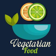 fresh lemon and orange in bowl vegetarian food