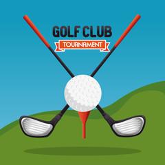 golf sport club with sticks