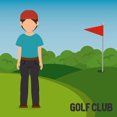 golfer playing in golf club