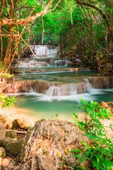 Wall Mural - Huay Mae Kamin waterfall at National Park in Thailand