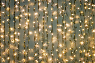 Fairy lights as an abstract background