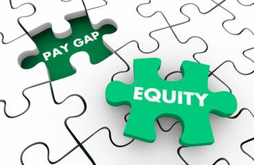 Pay Gap Equity Fair Wages Men Vs Women Puzzle Pieces 3d Illustration