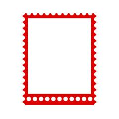 Blank stamps frame, postage stamp – stock vector