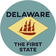 delaware: the first state | digital badge