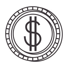 coin money isolated icon