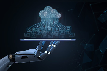 robot with cloud computer