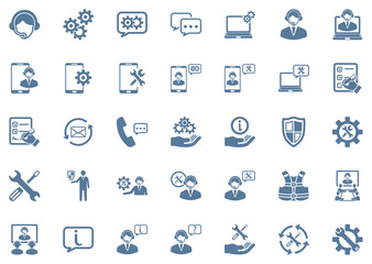 Technical Support Icon Set 1
