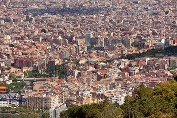 Panoramic view of Barcelona Spain