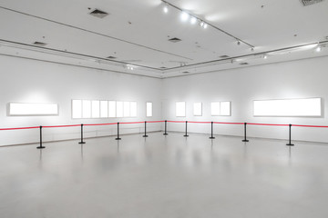 Art Gallery Museum Blank Frame Exhibition White Clipping Path Isolated