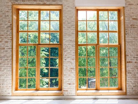 Large Loft Interior two large windows