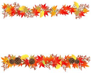 秋のイメージフレーム 02