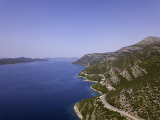 Aerial Beautiful Landscape and Sea in Croatia