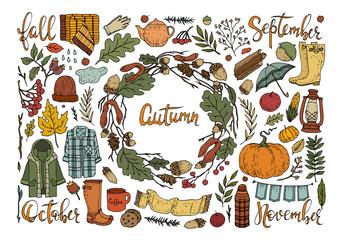 autumn set elements 1