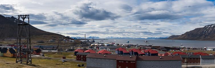 Panorama of Longyearbyen mining town