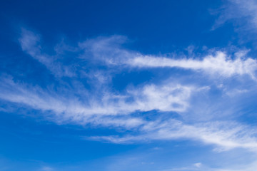 Blue sky and beautiful clouds, nature background