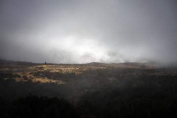 Dark clouds in New Zealand alps