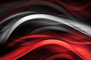 Red and white glowing modern waves background.