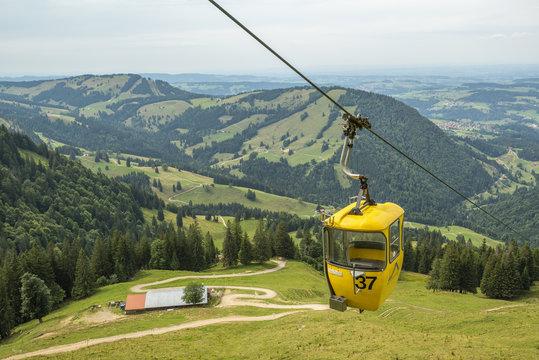 Seilbahn am Hochgrad im Oberallgäu bei Oberstaufen