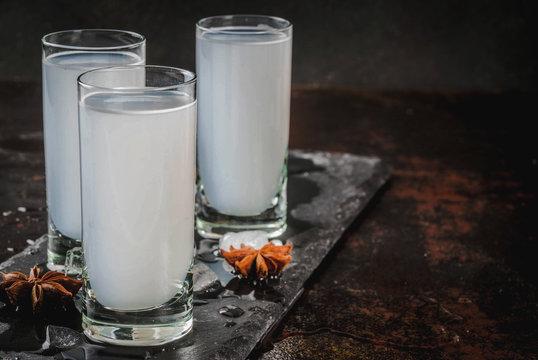 Arabic alcohol drink Raki