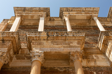 Fotobehang Rudnes walls and columns of the school in the ancient 2nd century Lydian capital of Sardis