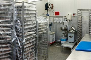 Food processing plant storage room