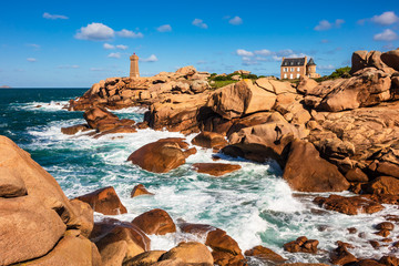 Fototapete - Atlantikküste in der Bretagne bei Ploumanach