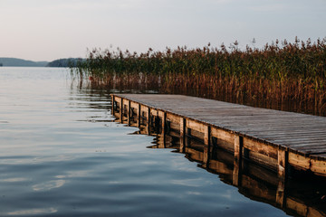 View of the beautiful lake