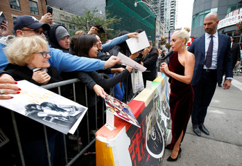 Actor and singer Lady Gaga arrives for the press conference to promote the film A Star is Born at the Toronto International Film Festival (TIFF) in Toronto