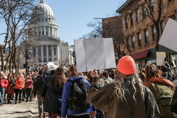 Teens marching to the capitol in protest
